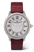 Jaeger-LeCoultre Rendez-vous Night & Day Ivy 34mm 18-karat White Gold, Diamond And Alligator Watch