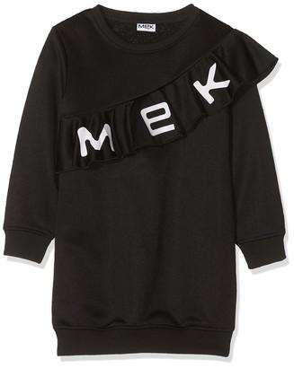 MEK Girl's Abito Felpa Logo Dress