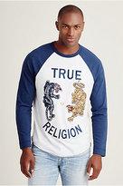 True Religion Panther Raglan Mens Tee