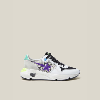 Golden Goose Multicoloured Running Sole Python-Print Sneakers Size IT 35