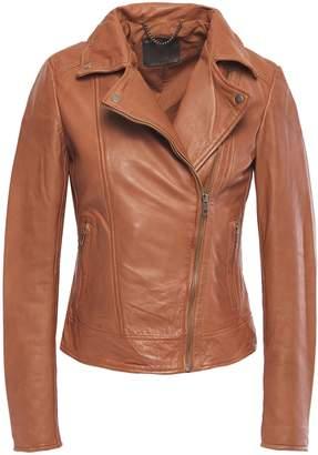 Muu Baa Muubaa Sabik Zip-detailed Leather Biker Jacket
