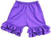 Wennikids Baby/infant/toddler/girl's Cotton Ruffle Summer Shorts (1-2T)