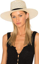 Janessa Leone Maxime Telescope Crown Panama in Cream. - size M (also in S)