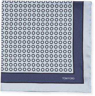 Tom Ford Small Dot Silk Pocket Square
