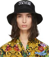Versace Black Logo Bucket Hat
