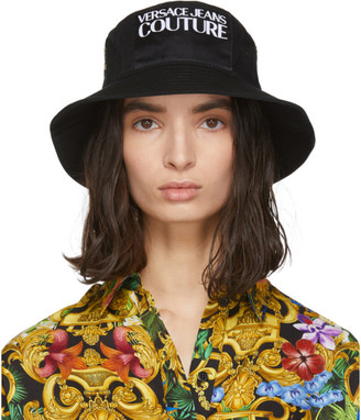 Versace Black Logo Bucket Hat