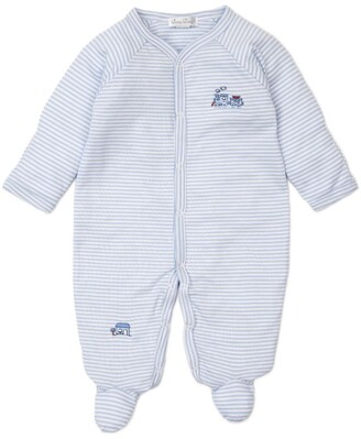 Kissy Kissy Cotton Embroidered Train All-In-One (0-9 Months)