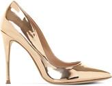 Steve Madden Daisie metallic-leather heeled courts