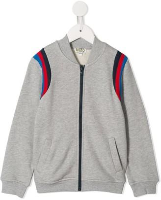 Kenzo Kids Stripe Detail Bomber Jacket