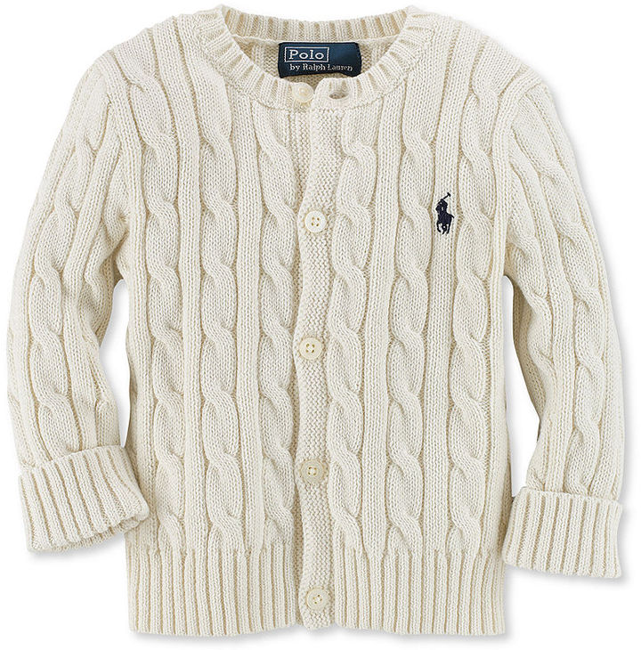Ralph Lauren Sweater, Baby Boys Cable Knit Cardigan