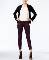 Hudson Super-Skinny Violet Coated Ankle Jeans