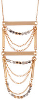 Stephan & Co Bar Bead Chain Pendant Necklace