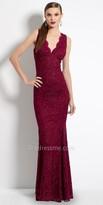 Camille La Vie Glitter Lace Trumpet Evening Dress