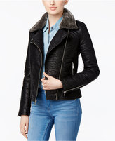 Rachel Roy Faux-Fur-Collar Bomber Jacket, Only at Macy's