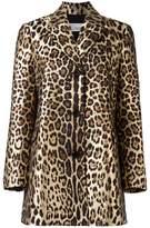 RED Valentino leopard print midi coat