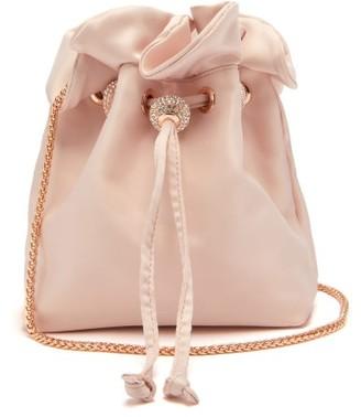 Sophia Webster Emmie Crystal-embellished Satin Bucket Bag - Womens - Light Pink