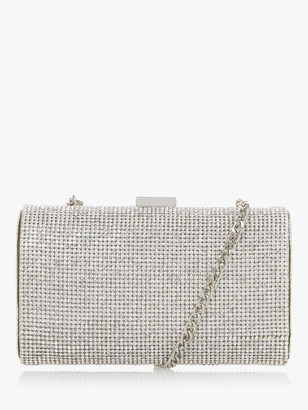Dune Bryannie Diamante Clutch Bag, Silver