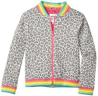 Appaman Kids Nikki Bomber Jacket (Toddler/Little Kids/Big Kids) (Grey Cheetah) Girl's Clothing