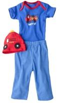 Gerber Newborn Boys' 3-Piece Set - Blue/Red