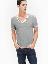 Splendid Short Sleeve Loop V-Neck Tee
