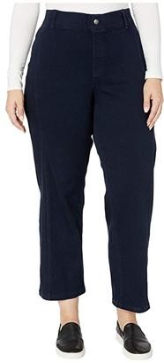 Hue Plus Size Denim Culotte (Midnight Rinse) Women's Jeans