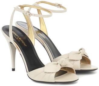 Saint Laurent Anouk 95 leather sandals