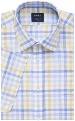 Arrow Men's Regular-Fit Stretch Short-Sleeved Dress Shirt