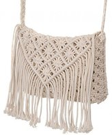 South Beach Southbeach South Beach, Ladies Chunky Knit Lined Shoulder Bag