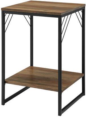 Hewson 16In Industrial Metal Accent Side Table