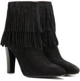 Saint Laurent Lily 95 suede ankle boots