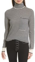 Joseph Women's Stripe Wool Turtleneck Sweater