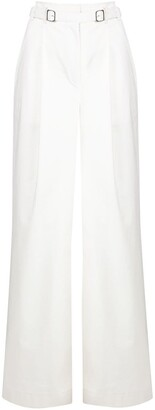 Proenza Schouler White Label Belted Wide-Leg Trousers