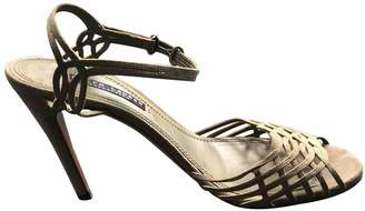 Ralph Lauren Khaki Suede Sandals