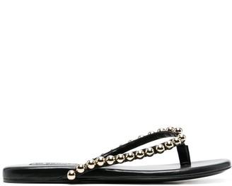 Jil Sander Bead-Embellished Flip Flops