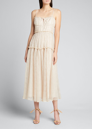 Jonathan Simkhai Ivy Smocked Midi Dress