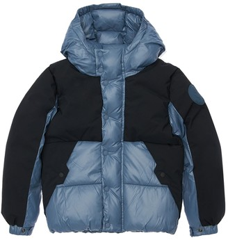 Save The Duck Color Block Hooded Nylon Down Jacket