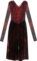 Givenchy Long-sleeved velvet and silk dress