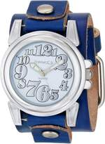 Nemesis Women's LBT069S Trendy Collection on Blue Leather Band Watch