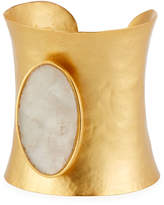 Stephanie Kantis Goddess White Quartz Cuff Bracelet