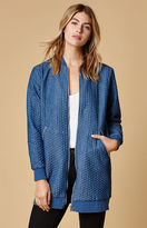 MinkPink Denim Tunic Bomber Jacket