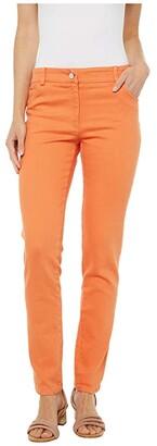 Elliott Lauren Stretch Denim Five-Pocket Jeans in Orange (Orange) Women's Jeans