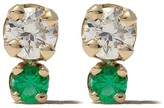 Chicco Gemfields X Zoë 14kt yellow gold emerald and diamond stud earrings