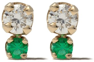 Gemfields X Zoë Chicco 14kt Yellow Gold Emerald And Diamond Stud Earrings