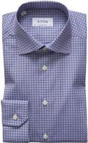 Eton Men's Circle Medallion-Print Dress Shirt