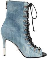 Balmain 95mm Club Denim Ankle Boots