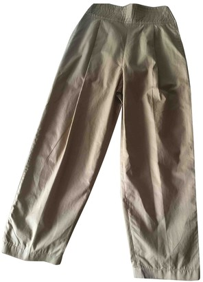 Genny Camel Cotton Trousers for Women