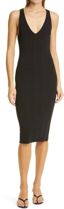 L'Agence Josephine V-Neck Sleeveless Knit Dress