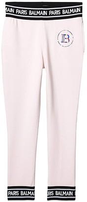 Balmain Kids Sweatpants w/ Banding On Waist and Hem (Little Kids/Big Kids) (Light Pink) Kid's Casual Pants