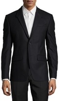 Givenchy Wool Leather Trimmed Sportcoat