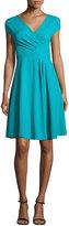 Armani Collezioni Milano Jersey V-Neck Dress, Azure